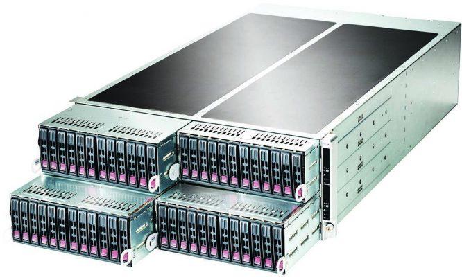 Платформа Supermicro с модулями
